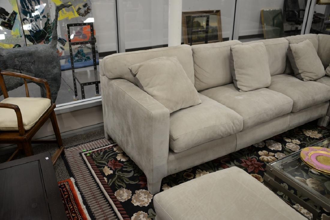 Large custom Nubuck leather sectional sofa with - 9