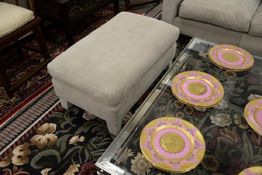 Large custom Nubuck leather sectional sofa with - 6