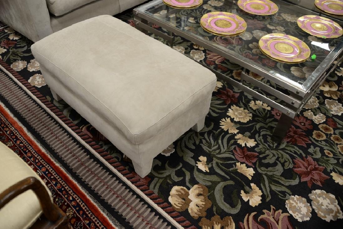 Large custom Nubuck leather sectional sofa with - 8