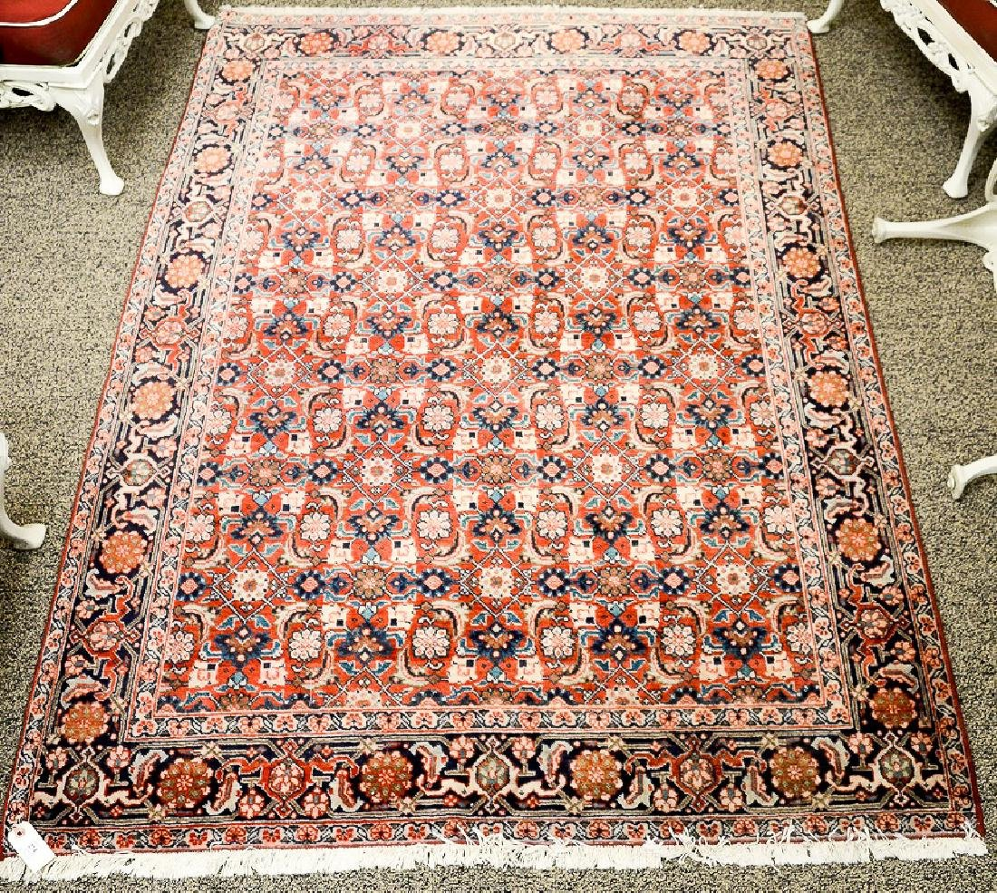 "Oriental throw rug.  4'3"" x 6'4"""