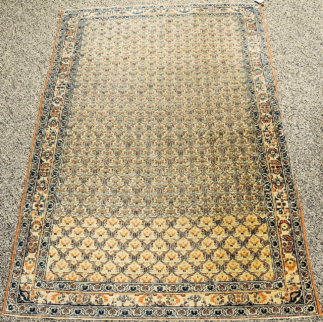 "Oriental throw rug.  3'3"" x 4'10""  Provenance: Estate"