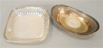 Two Tiffany & Co. sterling silver reticulated bowls,