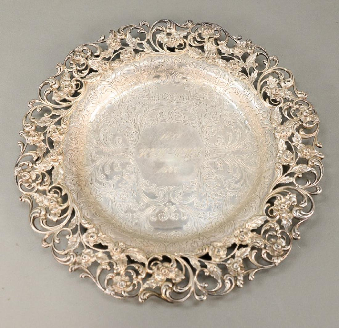 Hansel Sloan & Co. sterling silver tray with floral