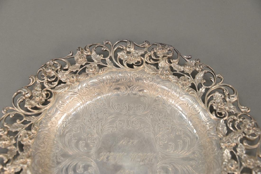 Hansel Sloan & Co. sterling silver tray with floral - 2