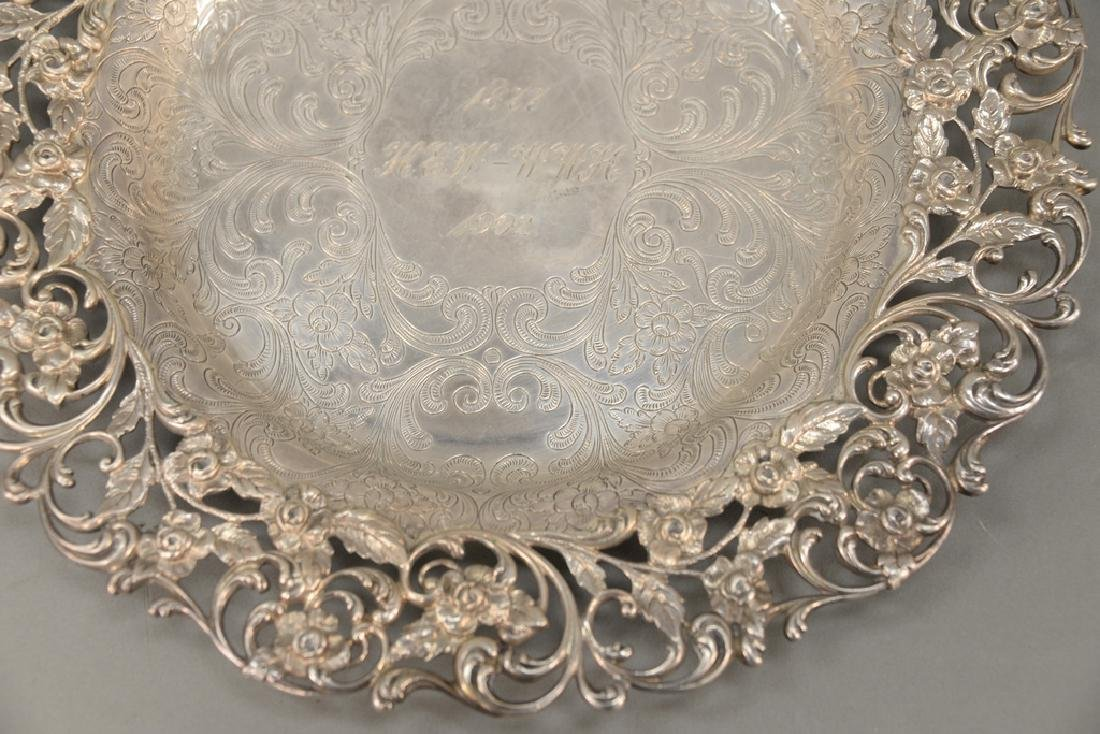 Hansel Sloan & Co. sterling silver tray with floral - 3