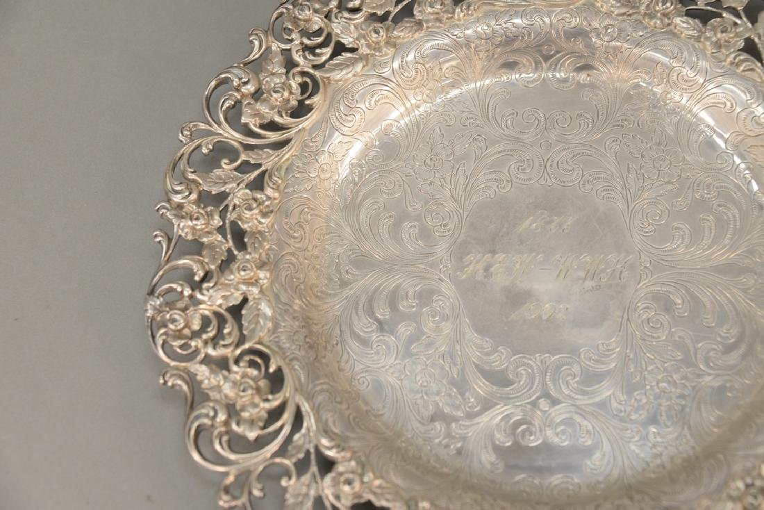 Hansel Sloan & Co. sterling silver tray with floral - 4