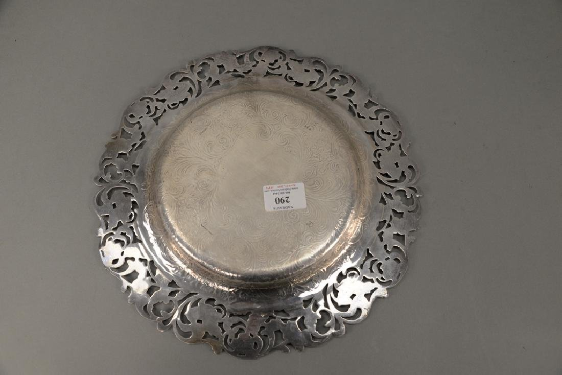 Hansel Sloan & Co. sterling silver tray with floral - 5
