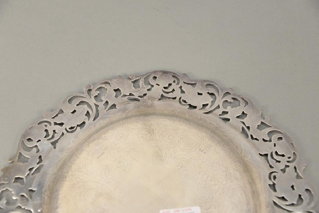 Hansel Sloan & Co. sterling silver tray with floral - 6