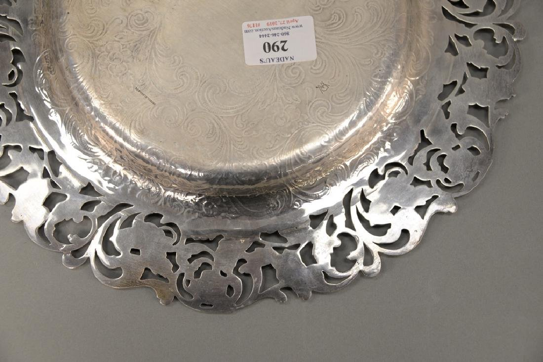 Hansel Sloan & Co. sterling silver tray with floral - 7