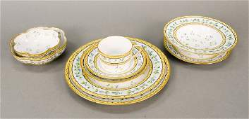 Limoges Ceralene 53 piece French porcelain dinner set,