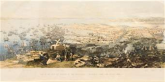 """After W. Boosey,  colored lithograph,  """"View of the"""
