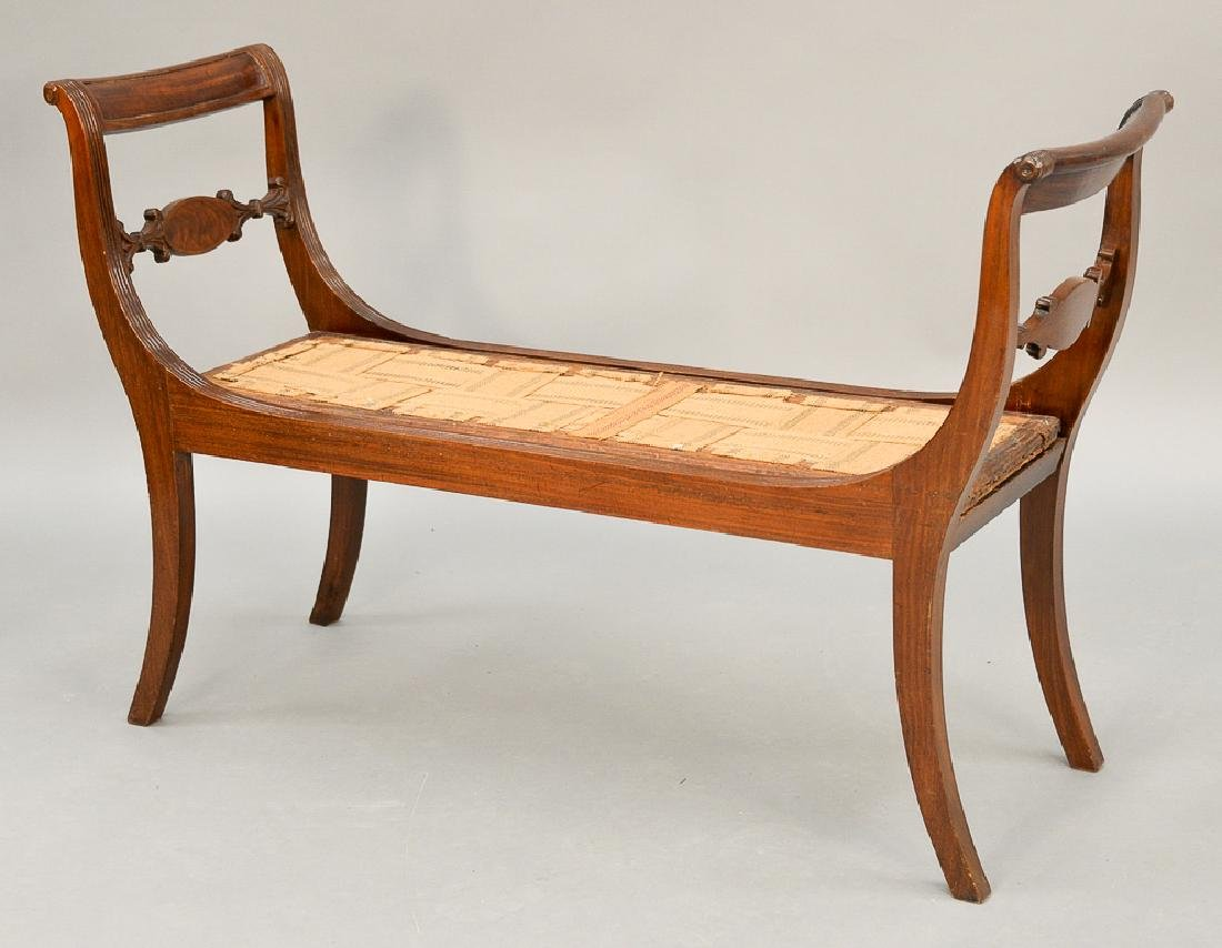 Bon ... Duncan Phyfe Mahogany Window Seat With Double Chair