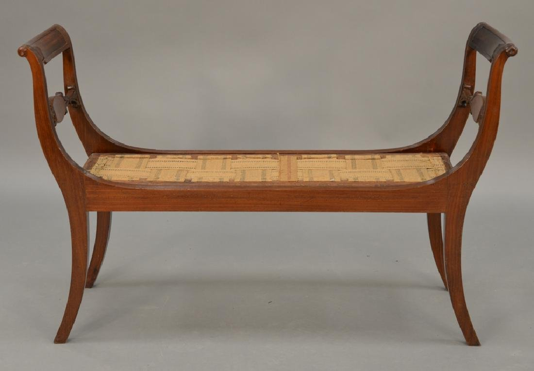 Delicieux Duncan Phyfe Mahogany Window Seat With Double Chair ...