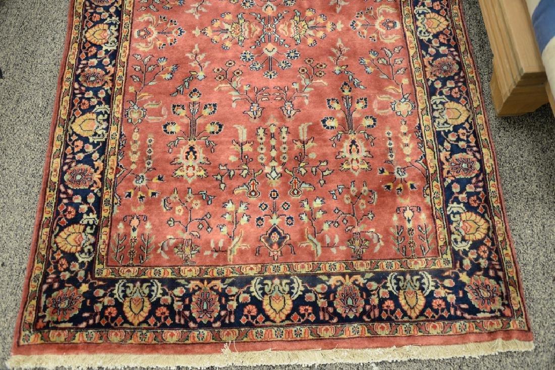 "Sarouk Oriental throw rug.  3'10"" x 6' - 2"