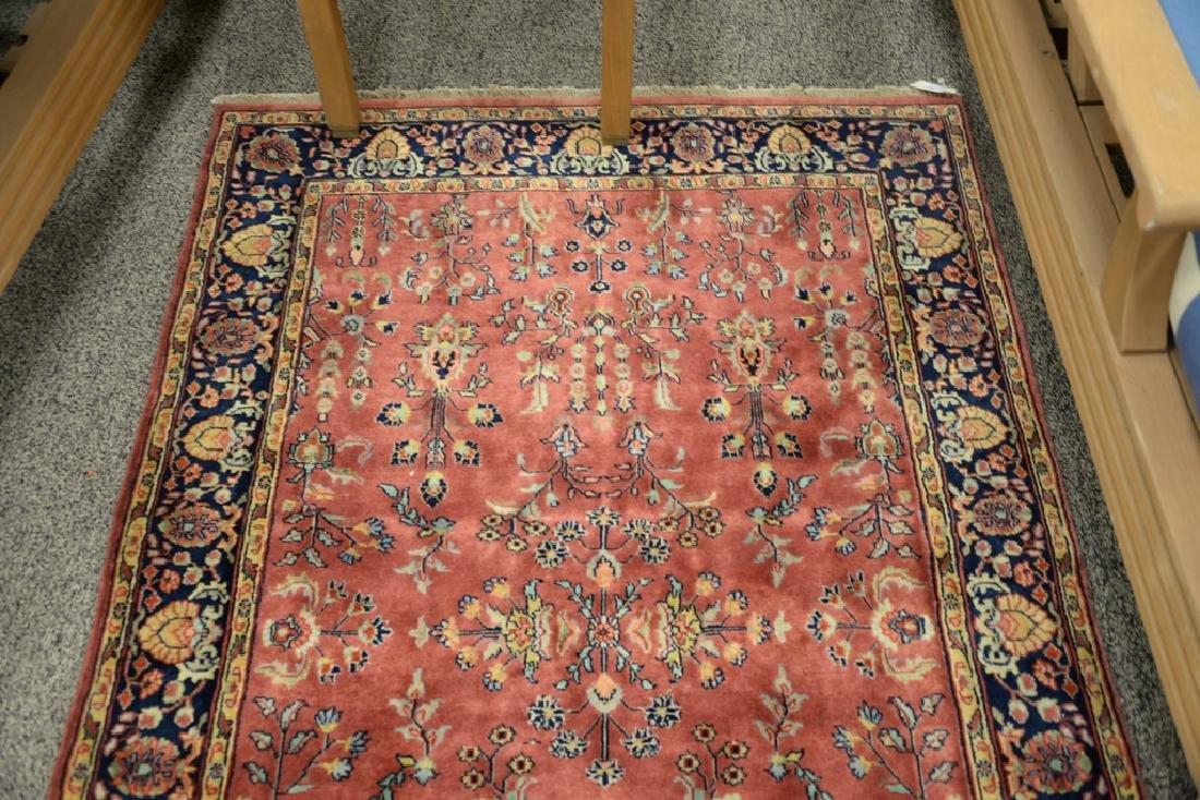 "Sarouk Oriental throw rug.  3'10"" x 6' - 3"