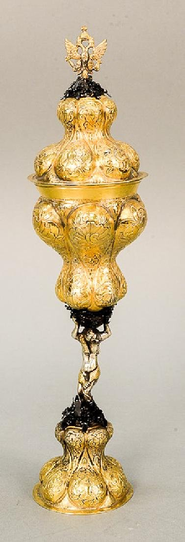 Gilt silver covered chalice having Imperial style eagle