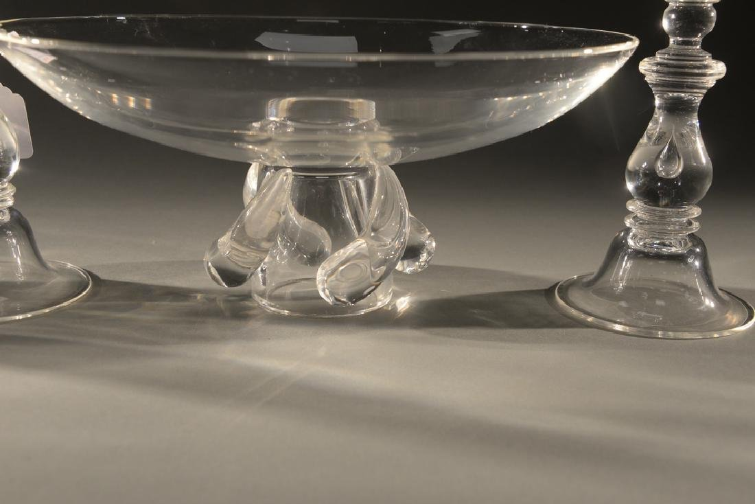 Four piece Steuben crystal group to include glass - 2