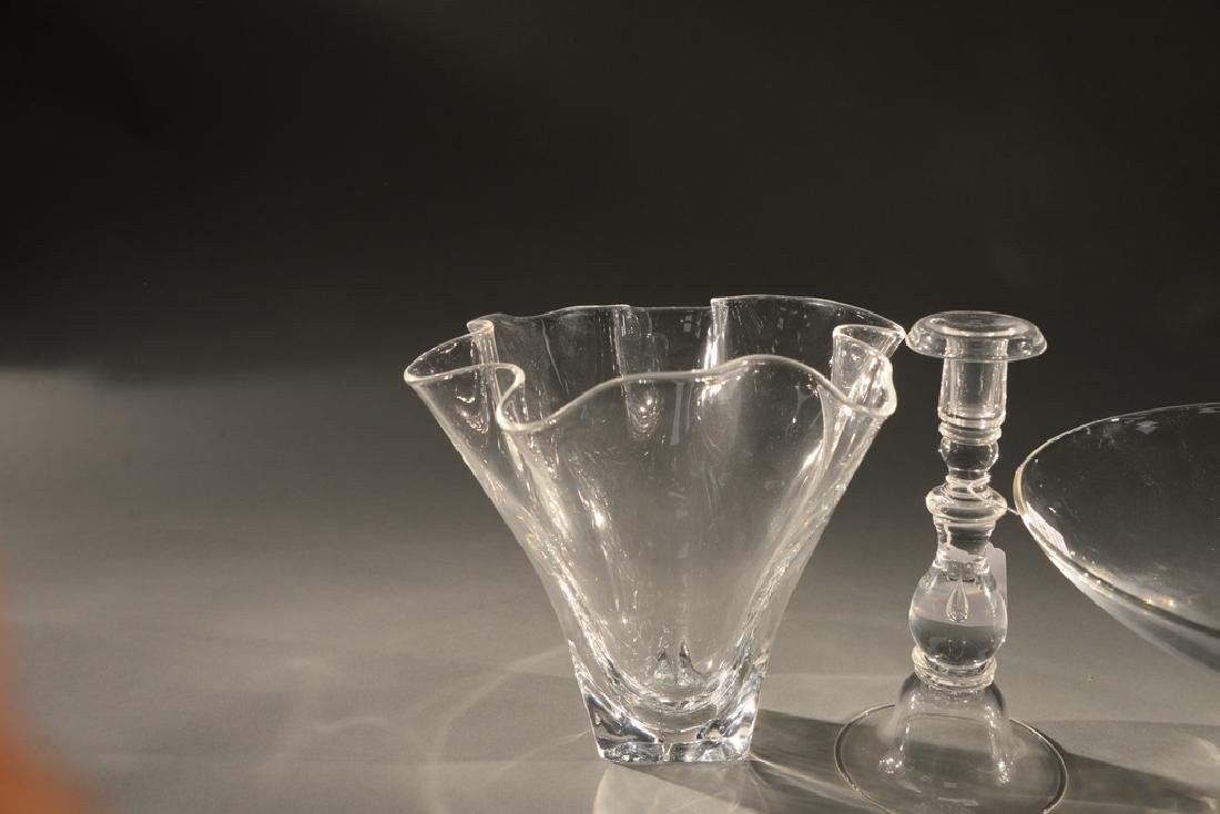 Four piece Steuben crystal group to include glass - 5