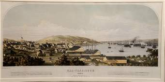 After Henry Firks  colored lithograph  View of San