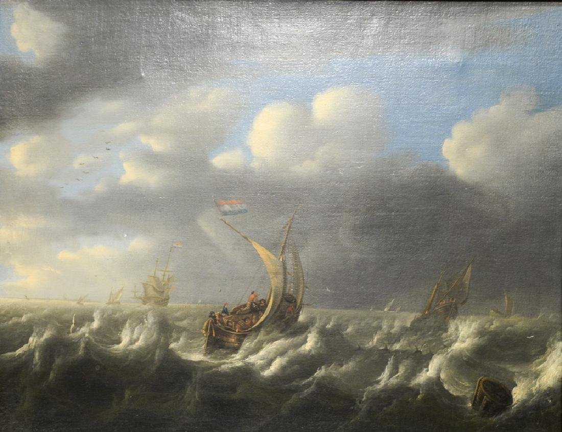 Seascape,  oil on canvas,  early 20th century copy of