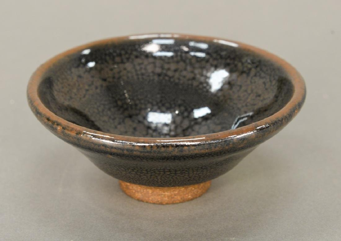 Oil spot stoneware (Jian Yao) tea bowl, China, the dark