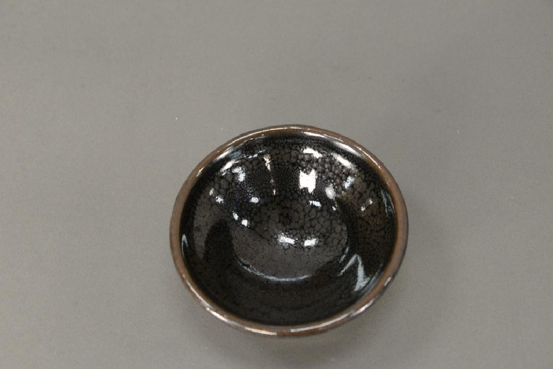 Oil spot stoneware (Jian Yao) tea bowl, China, the dark - 2