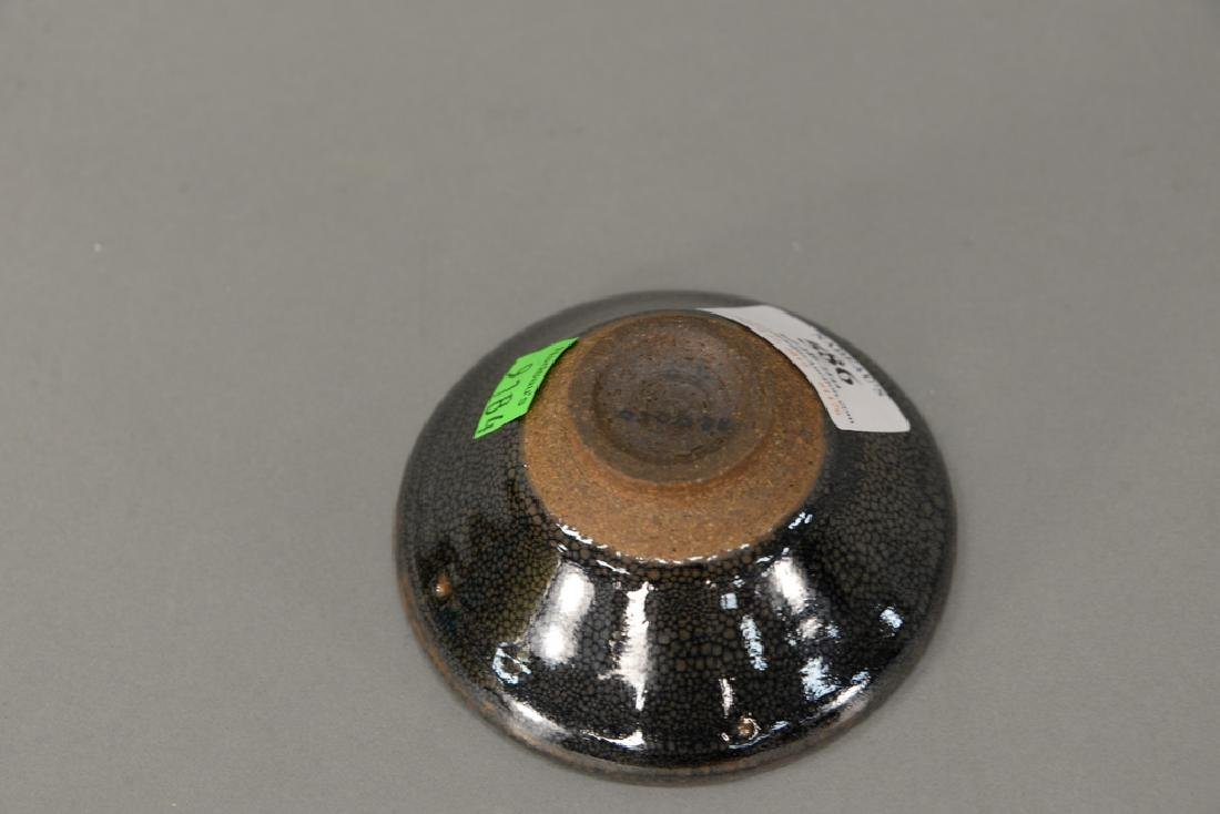 Oil spot stoneware (Jian Yao) tea bowl, China, the dark - 3