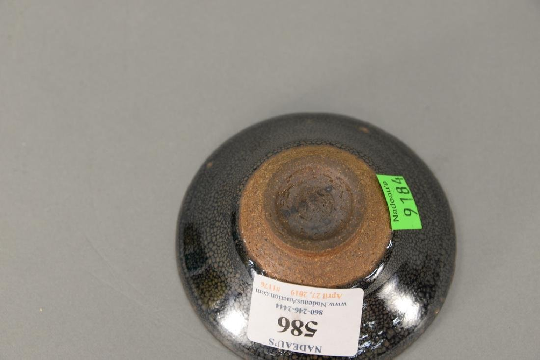 Oil spot stoneware (Jian Yao) tea bowl, China, the dark - 4