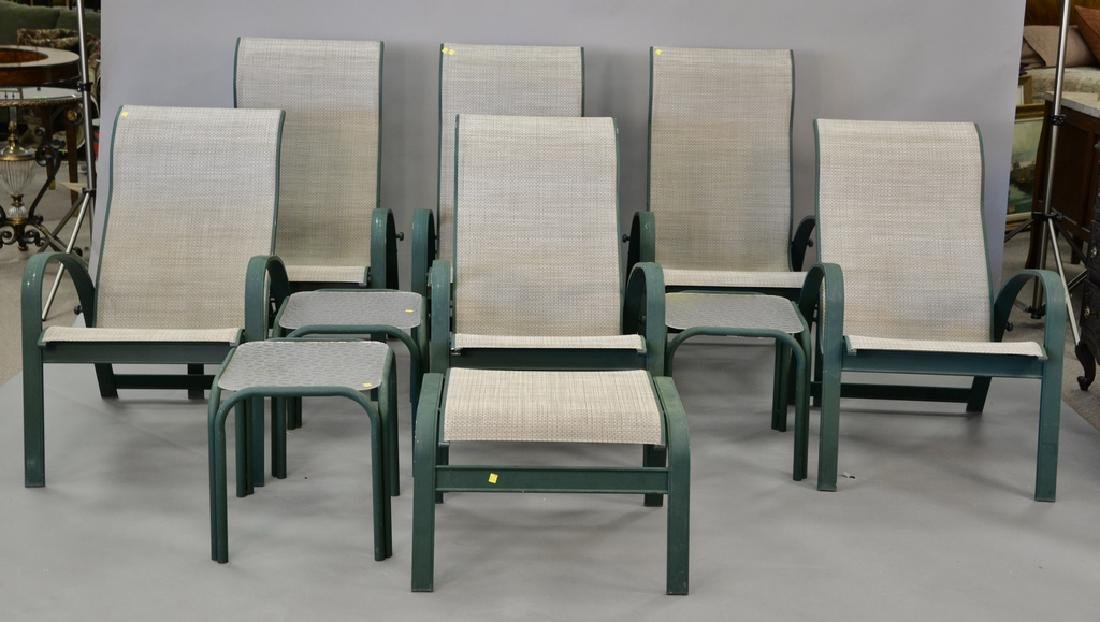 Ten piece lot to include a set of six outdoor patio