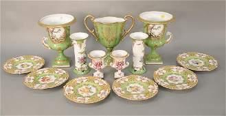 Thirteen Chelsea House porcelain pieces plus set of six