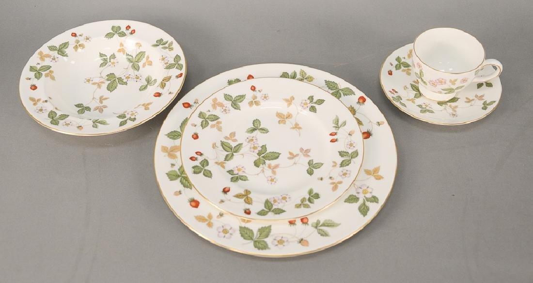 """Wedgwood """"Wild Strawberry"""" 107 piece porcelain"""