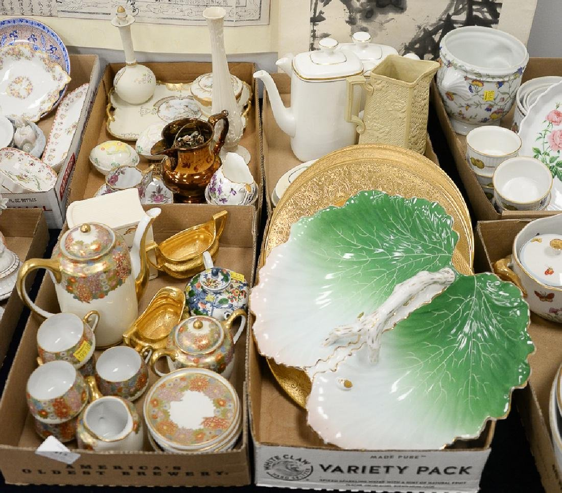 Four tray lots to include Koshida Japanese satsuma tea