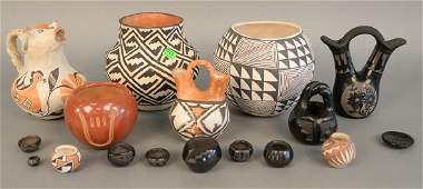 Seventeen piece lot of Indian pottery bowls and