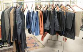 Rack of mens clothing to include Paul Stuart and