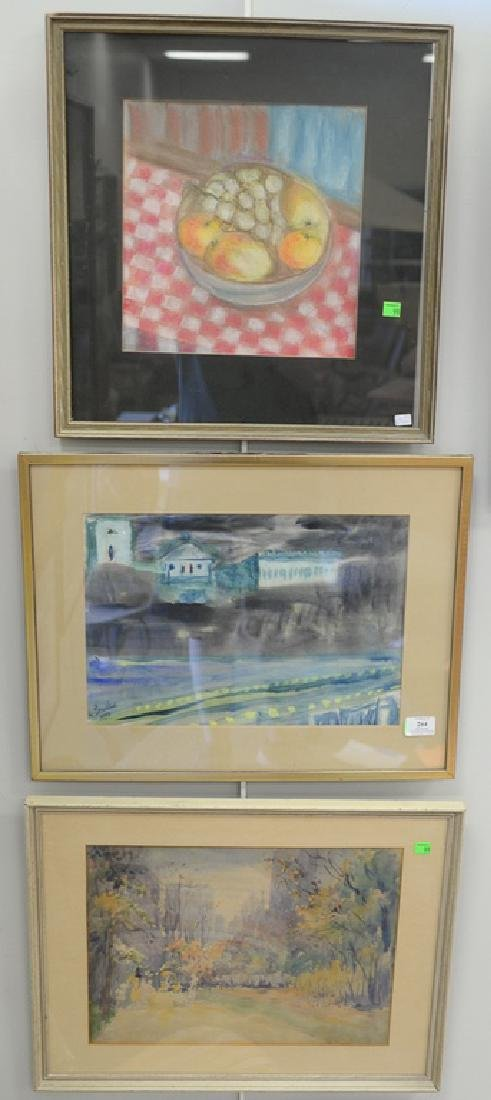 Group of 12 framed pieces to include Thomas Steven,