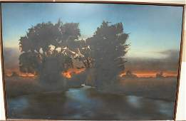 "Bruce Brainard (B1962), oil on canvas, ""Gihon"" River"
