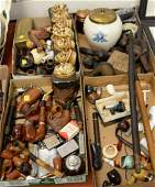 Pipe collection including oversized burlwood male face