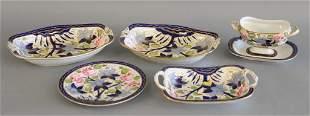 Nineteen piece porcelain dessert set 19th century