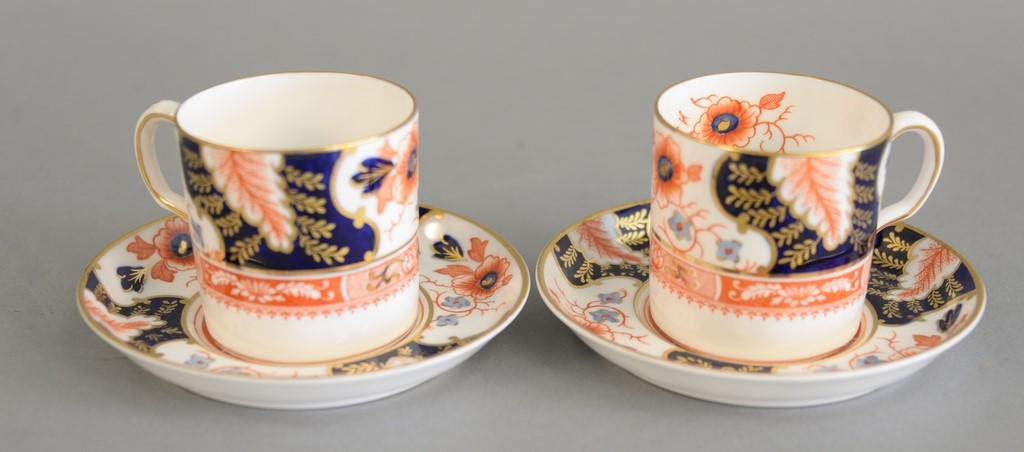 Set of ten royal crown Derby Imari coffee cups and