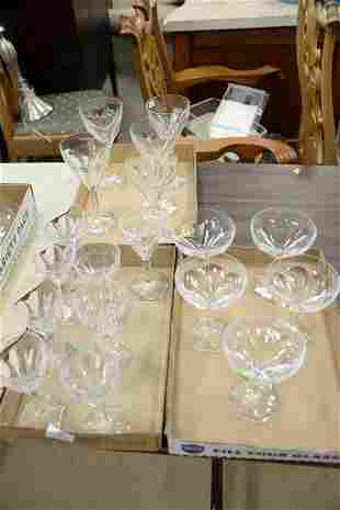 Val St Laurent set of crystal stems to include six