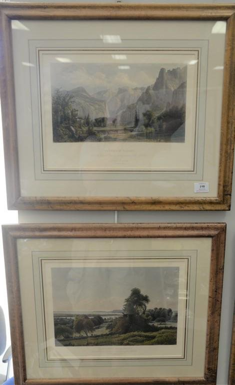 Set of four colored etchings to include William Pate