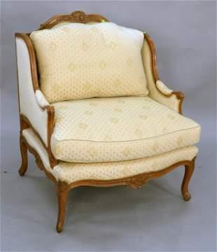 Louis XVI style beechwood upholstered marquise slight