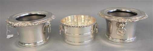Pair of Victorian silver plated wine coolers in regency