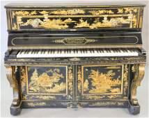 De Prouw Aubert upright piano, French chinoiserie