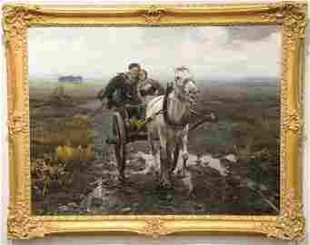 Alfred Von Wierusz - Kowalski (1849 - 1915), oil on