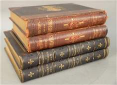 Group of four books including History of the Crusades