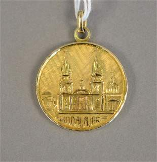 14K gold Mexican medallion, 16.6 grams.