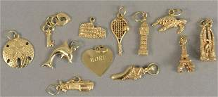 Lot of 14K gold charms, 20 grams.