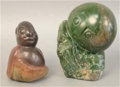 Two stone figures, Henry Munyaradzi (1931-1998) carved