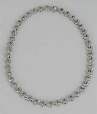 18 Karat White Gold Necklace, with forty- four